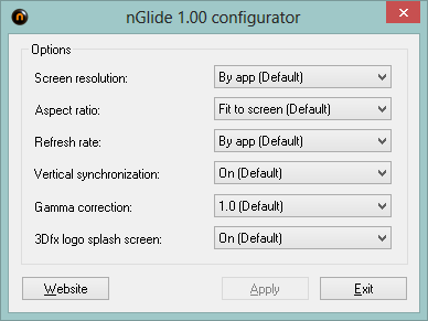 nGlide configuration options